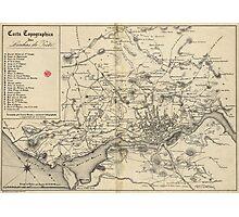 Vintage Map of Porto Portugal (1835) Photographic Print