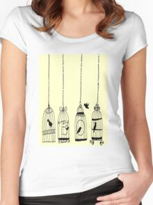 bird in a cage Women's Fitted Scoop T-Shirt