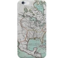 Vintage Map of North America (1743) iPhone Case/Skin