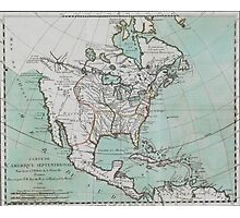 Vintage Map of North America (1743) Photographic Print