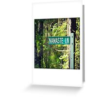 Namaste Lane Greeting Card