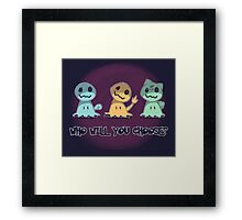 Creepy choice Framed Print