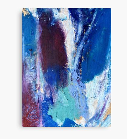Colourful Abstract Oil Pastel Design Canvas Print