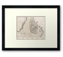 Vintage Map of Odessa Ukraine (1827) Framed Print