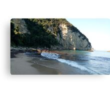 Beautiful view of the beach . Corfu. Greece. Canvas Print