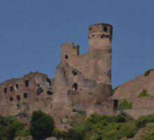 Rhine Castle And Vineyards Sticker