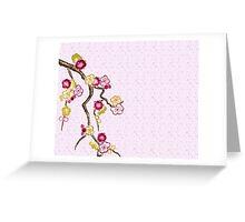 Hand-Painted Plum Blossoms Umenohana Washi Paper Greeting Card
