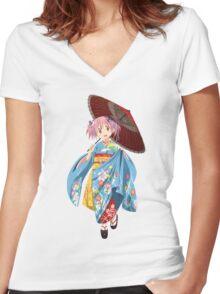 Puella Magi Madoka Magica - Madoka Kaname Women's Fitted V-Neck T-Shirt