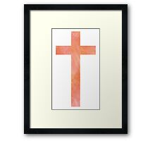 Christian Cross Framed Print