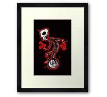 cyclops on a unicycle Framed Print