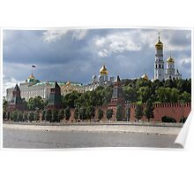 View on Moscow Kremlin Poster