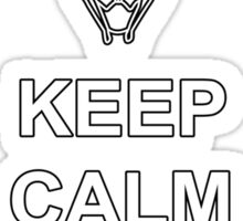 Keep Calm and Calibrate - White Text Sticker