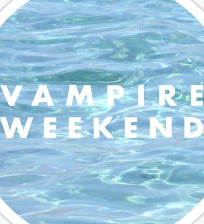 Water Vampire Weekend Logo Sticker