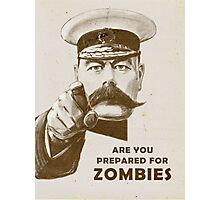 Prepare for Zombies! Photographic Print