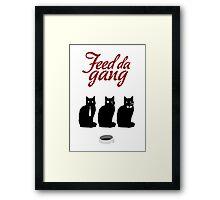 Feed da gang of cats Framed Print