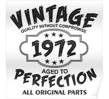 Vintage 1972  Poster