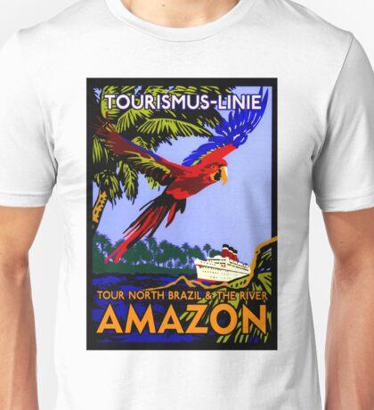 """AMAZON BRAZIL RIVER"" Vintage Cruise Print Unisex T-Shirt"