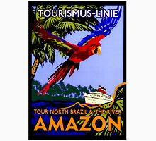 """AMAZON BRAZIL RIVER"" Vintage Cruise Print Unisex T-Shirt"