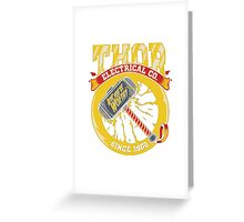thor electric Greeting Card