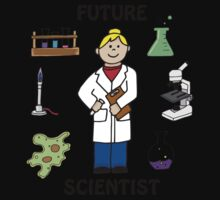 Future Scientist - Girl Light Kids Tee