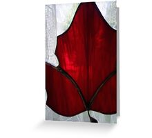 RED GLASS WITH A VIEW Greeting Card