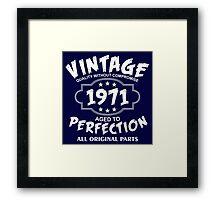 Vintage 1971 Framed Print