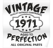 Vintage 1971 Poster