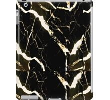Black Marble Print iPad Case/Skin