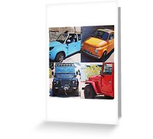 French Cars Greeting Card