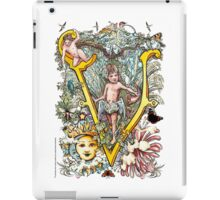 "The Illustrated Alphabet Capital  V  ""Getting personal"" iPad Case/Skin"