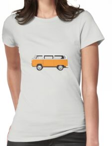 Tin Top Early Bay standard orange and white Womens Fitted T-Shirt