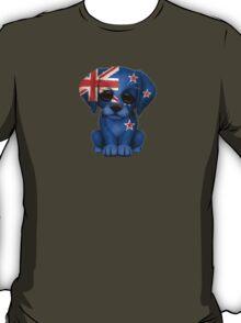 Cute Patriotic New Zealand Flag Puppy Dog T-Shirt