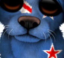 Cute Patriotic New Zealand Flag Puppy Dog Sticker