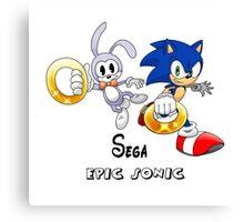 Sega 's Epic Sonic Canvas Print