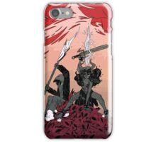Warrior skull and girl iPhone Case/Skin