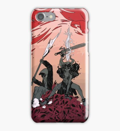 Warrior skull and girl iPhone Case/Skin
