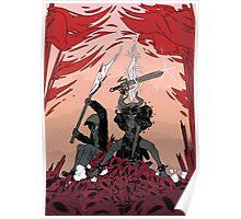 Warrior skull and girl Poster
