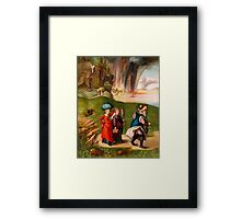 """""""LOT & HIS DAUGHTERS"""" Old Testament Bible Print Framed Print"""