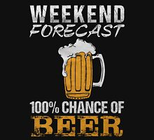 Weekend forecast 100% change of beer - T-shirts & Hoodies Unisex T-Shirt