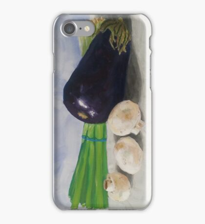 Eggplant, Mushrooms, and Chives iPhone Case/Skin