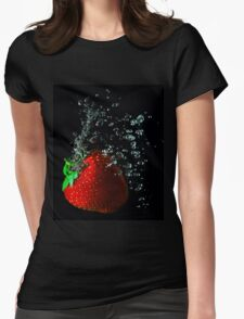 Giant bubbly strawberry Womens Fitted T-Shirt