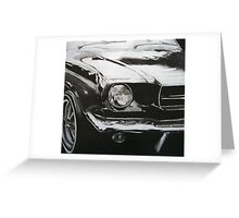 Graphite Car Greeting Card