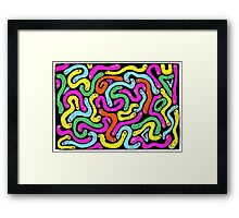 Many Worms - Neon Framed Print