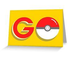 Poké Go! Greeting Card