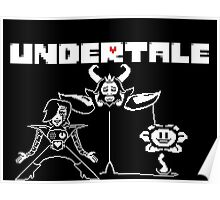 Undertale Characters /w logo Poster