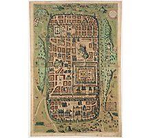Vintage Map of Jerusalem Israel (1584) Photographic Print