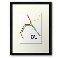 the bay. Framed Print