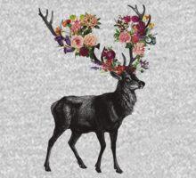 Spring Itself Deer Floral Kids Tee