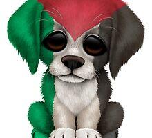 Cute Patriotic Palestine Flag Puppy Dog by Jeff Bartels