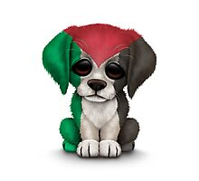 Cute Patriotic Palestine Flag Puppy Dog Photographic Print